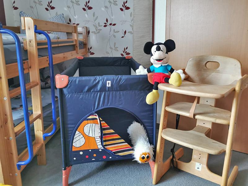 Aufbettungs- und Sitzmöglichkeit für Kleinkinder